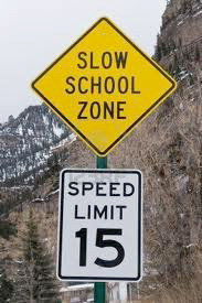 school zone sign Why create laws that no one is going to obey or respect, and that are not going to be enforced across the board?