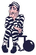 cartoon of a prisoner