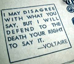 A Voltaire quote on freedom