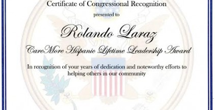 Rolando Larraz, founder and editor in chief of the Las Vegas Tribune, was honored Thursday, June 18, 2015 at the Mexican Consulate