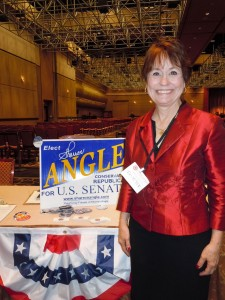 Among the more interesting speakers were Sharron Angle, who has written two books