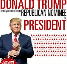 The Republican Party officially nominated Donald Trump for president