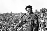 Dec. 1971: Bob Hope entertains troops at Cu Chi, 20 miles northeast of Saigon.