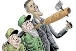 The Three Musketeers: Raul Castro, Fidel, Obama
