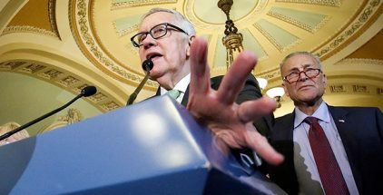 Sen. Harry Reid — who would like nothing better than to shut down government, close parks and blame it on Republicans weeks before the election — wailed on the Senate floor: