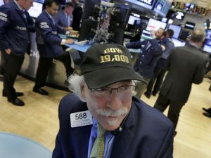 The Dow Jones industrial average, arguably the world's best-known stock market gauge, crossed the 19,000 barrier in early trading Tuesday for the first time in its 120-year history.