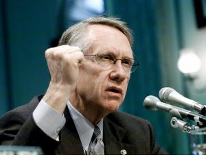 "Long time Nevada retired senator, Harry Reid, issued a statement blaming Trump's followers for those ""Peaceful demonstrations"""