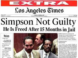 The nation was divided when the jurors found OJ Simpson not guilty