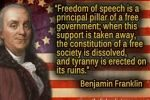 Ben franklin free speach