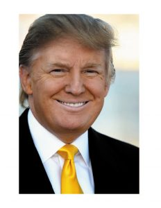Donald J. Trump the newly elect 45 president of the United States.