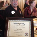 Admin Chief Carl Dennett at the awards ceremony in San Francisco. Photo by Judy Palmer.