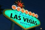 Las Vegas sign green