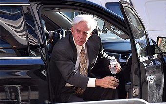 Billy Walters, owner of Walters Golf, arrives at federal court in New York, U.S., on Wednesday, March 22, 2017. Former Dean Foods Co. chairman Tom Davis is telling a Manhattan jury a story that could send his former pal, Walters, to prison for almost a decade. Photographer: Louis Lanzano/Bloomberg