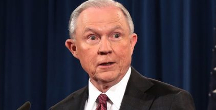 "Sessions said. ""They threaten the very integrity of our nations and our hemisphere. It is here on this sliver of land, on this border, where we first take our stand."