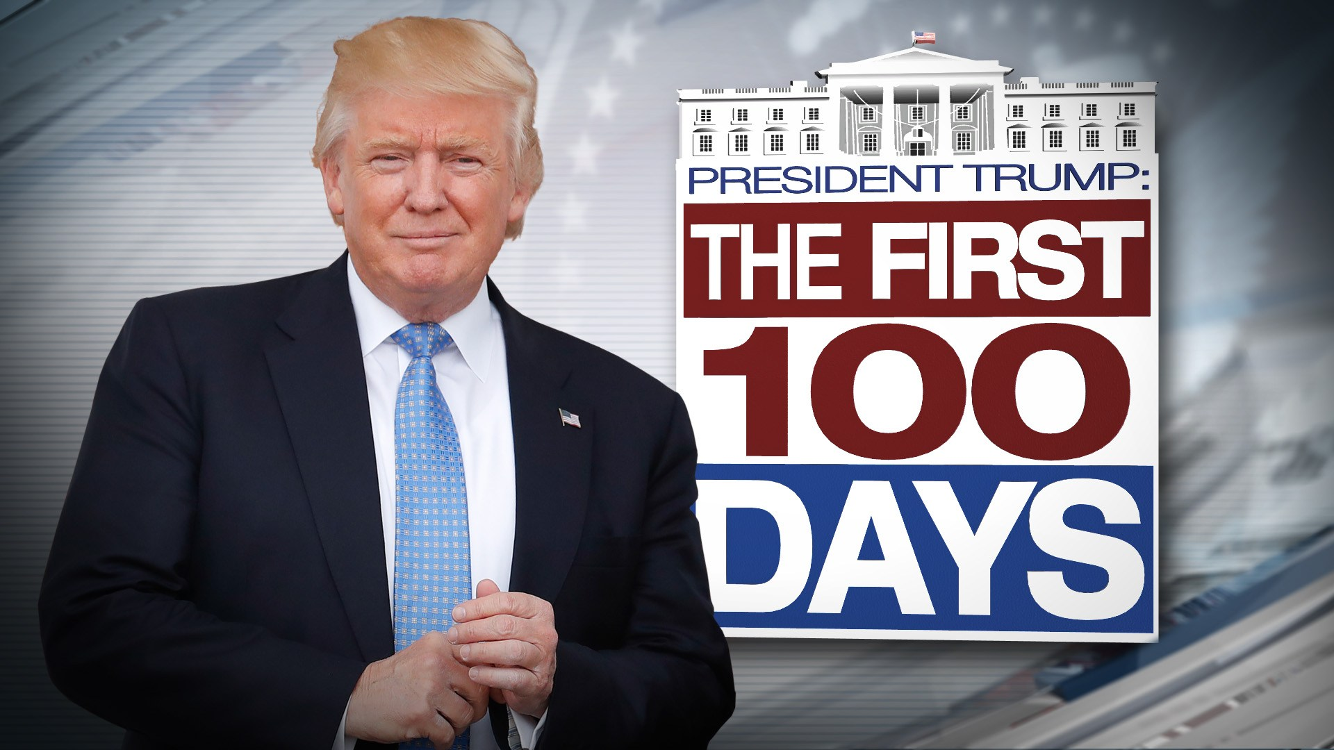 Trump 100 day art